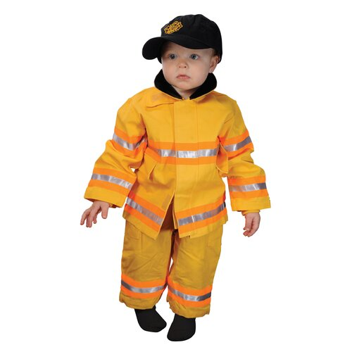 Aeromax Jr. Fire Fighter Suit for 18 Months Costume in Yellow