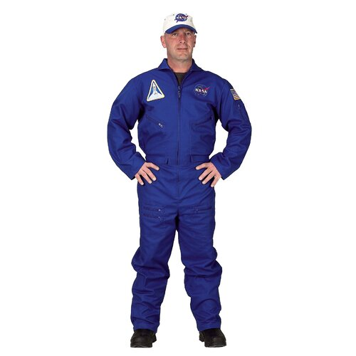 Adult Flight Suit with Embroidered Cap Costume