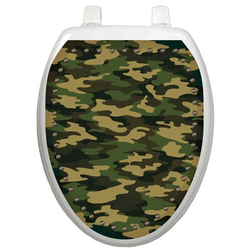 Toilet Tattoos Youth Army Camouflage Toilet Seat Decal