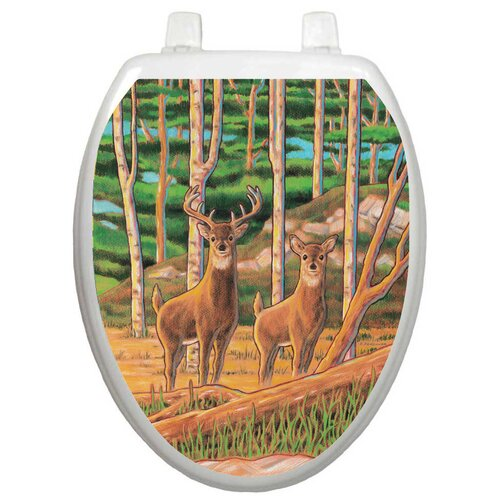 Toilet Tattoos Themes Deer In The Woods Toilet Seat Decal