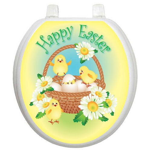 Toilet Tattoos Holiday Easter Chicks Toilet Seat Decal