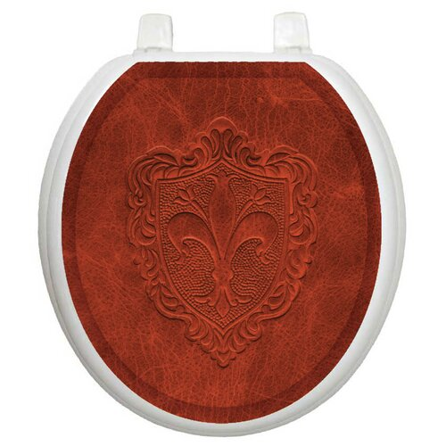 Toilet Tattoos Classic Embossed French Lily Toilet Seat Decal