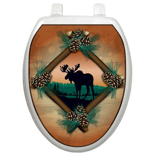 Toilet Tattoos Themes Moose At Sunset Toilet Seat Decal