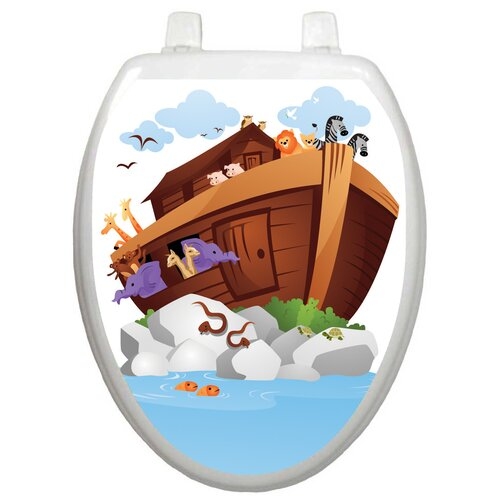 Toilet Tattoos Youth Noah's Ark Toilet Seat Decal