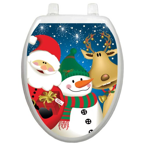Toilet Tattoos Holiday 3 Christmas Times Toilet Seat Decal