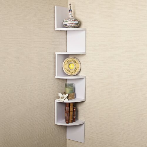 Danya B Corner Zig Zag Wall Shelf