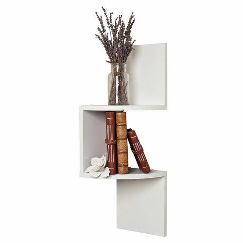 Danyab corner zig zag shelf reviews wayfair - Danya b corner shelf ...