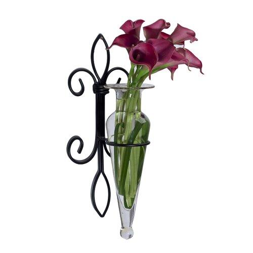 Danya B Fleur Lis Wall Sconce Amphora Vase