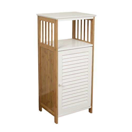 Danyab bamboo bathroom utility floor cabinet for Bathroom utility cabinet