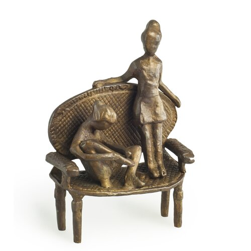 Girls on Vintage Arm Chair Figurine