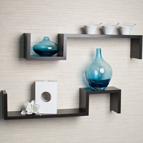 "Danya B ""S"" Wall Mount Shelf (Set of 2)"