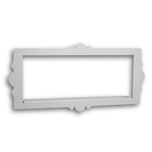 Scalloped Metal Rectangular Floating Shelf