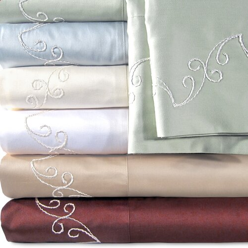 Veratex, Inc. Supreme Sateen 500 Thread Count Scroll Pillowcase