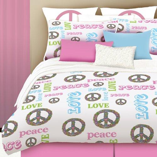 Veratex, Inc. Peace and Love 3 Piece Comforter Set