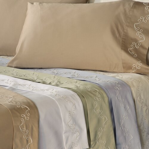 Supreme Sateen 300 Thread Count Scroll Sheet Set