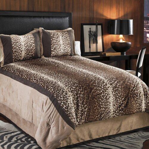 Kimba Leopard 4 Piece Comforter Set