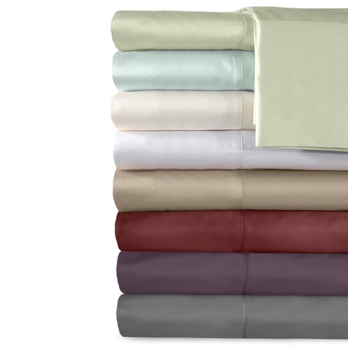 Supreme Sateen 500 Thread Count Cotton Solid Pillowcase (Set of 2)