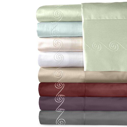 Supreme Sateen 500 Thread Count Cotton Swirl Pillowcase (Set of 2)