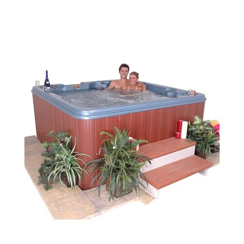 QCA Spas 7-Person 60-Jet Jamaica Non-Lounger Spa