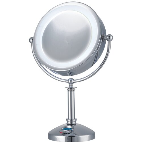 Large 24 LED Lighted Touch Control Makeup Mirror with Clock