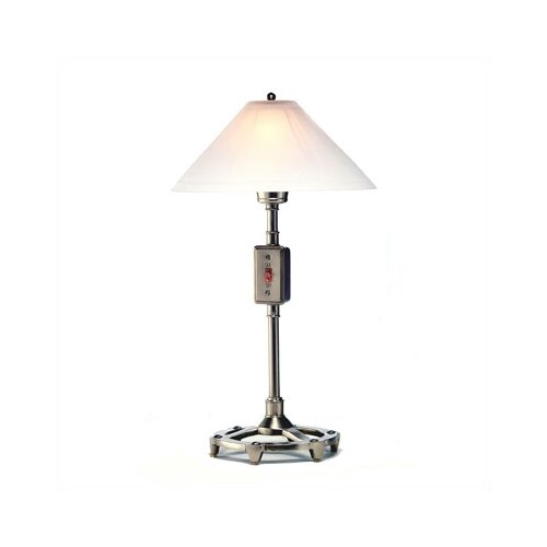 """Ecco Leviton Dimmer Glass Shade 24"""" H Table Lamp with Empire Shade"""