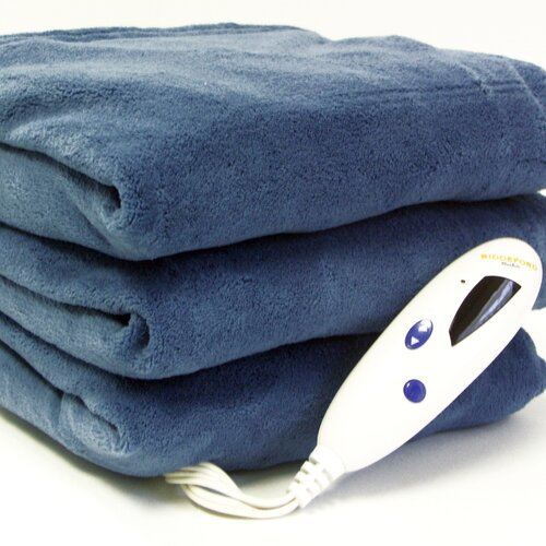 Biddeford Blankets Fleece Heated Throw