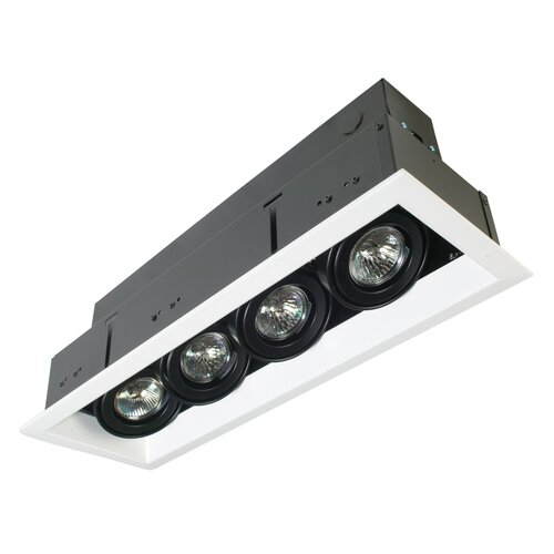 Eurofase 4 Light MR16 Multiple Recessed Kit with Transformer