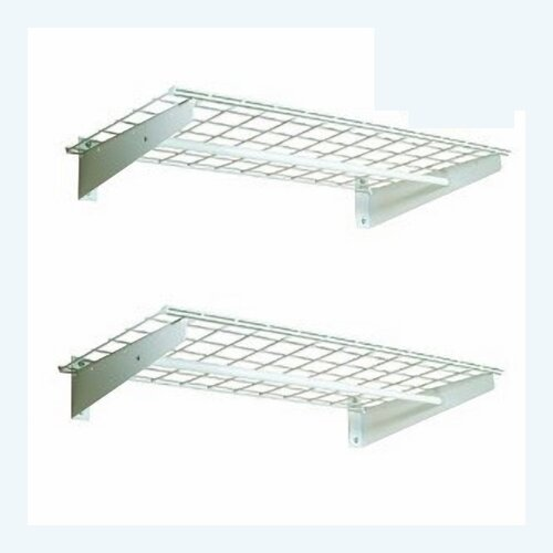 Hyloft Wall Shelf with Hanging Rod in White