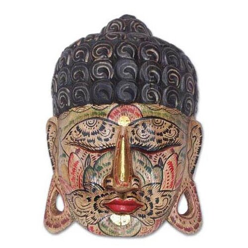 Novica Flower Face Buddha Mask Wall Décor