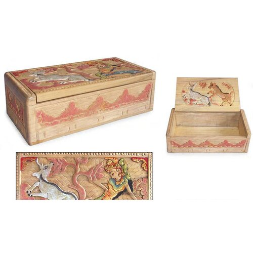 Novica 'Legend of Sita and the Golden Deer I' Box