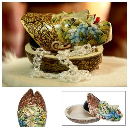 Novica 'Flower Man of Bali' Box