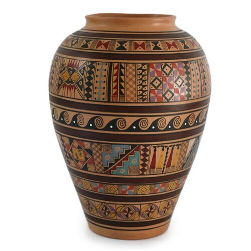 Novica Inca Spirit Cuzco Vase