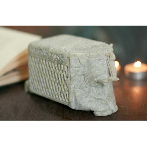 Novica 'White Elephant' Treasure Box