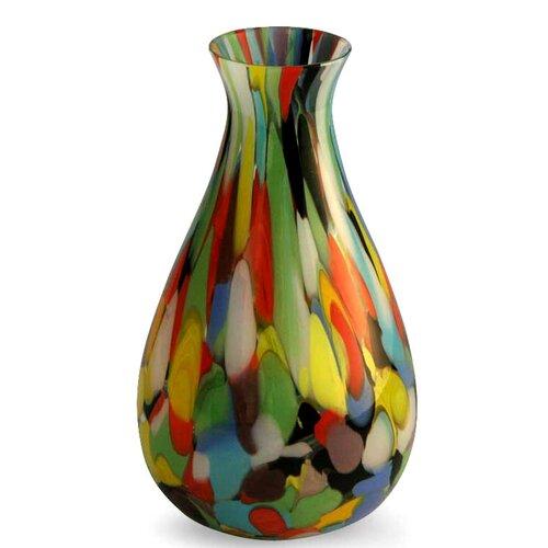 Novica Carnival Murano Hand Blown Vase