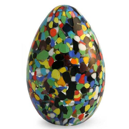 Novica 'Confetti Egg' Murano Hand Blown Paperweight