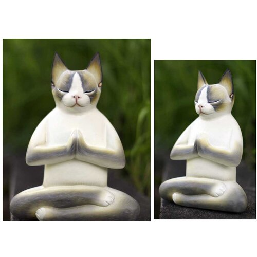 Novica 'Cat in Meditation' Figurine