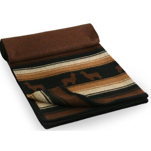 Novica Alpaca Kingdom Wool / Acrylic Throw Blanket