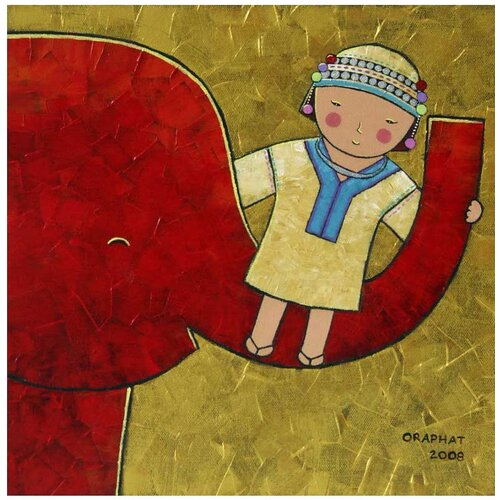 Novica 'The Happiness' Canvas Art