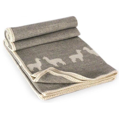 Novica Alpaca Shadows Wool / Acrylic Throw Blanket