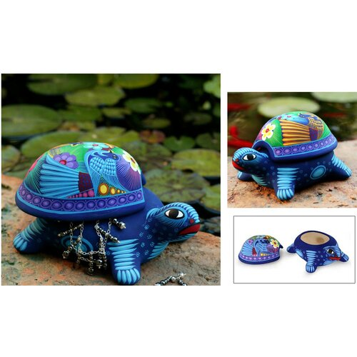 Novica Honored Turtle Box