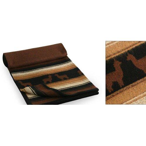 Novica Alpaca Kingdom Wool / Acrylic Throw Blanket