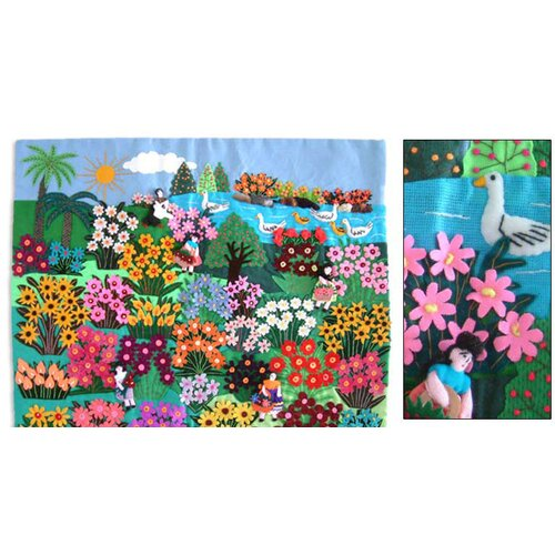 Novica World of Nature' Applique by Maria Uyauri Wall Hanging