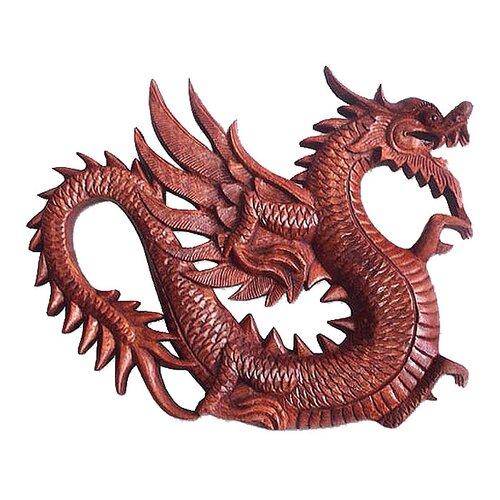 Novica 'Winged Dragon Figure' Wall Décor