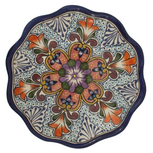 "Novica Pedro Alba Wilderness Talavera 11.75"" Serving Platter"