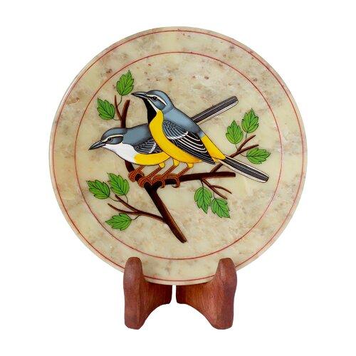 The Ganesh Sharma Artisan Bird Chitchat Soapstone Plate