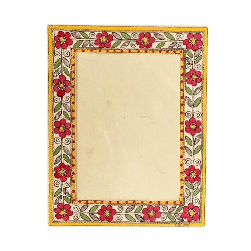 The Vidushini Artisan (5x7) Flowers Of India Madhubani Photo Frame