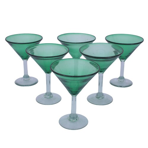 Javier and Efren Vegetation Martini Glass (Set of 6)