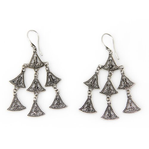 The Wayan Asmana Artisan Sterling Silver Java Belle Chandelier Earrings