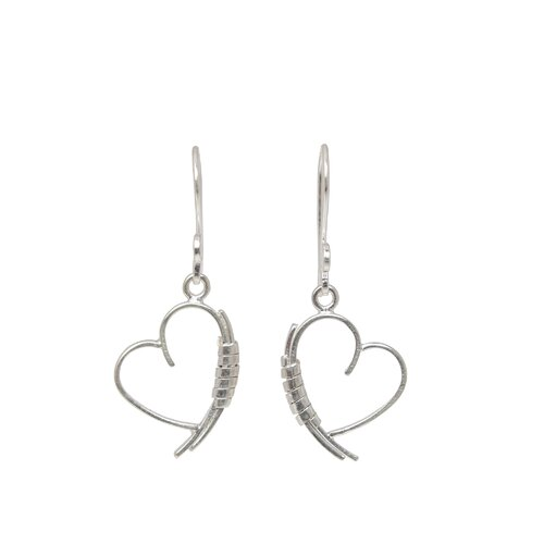The Withaya Artisan Love Promise Heart Earrings