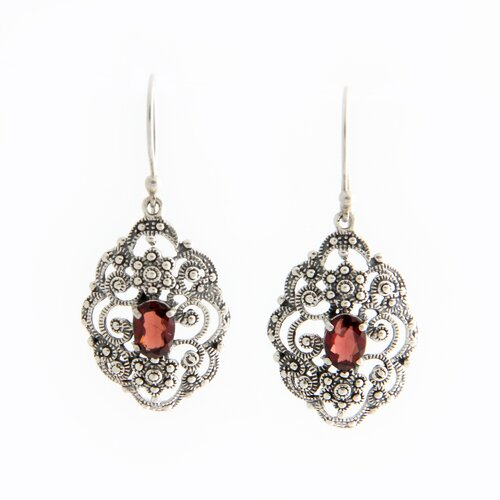 Novica The Putu Putri Artisan Kuta Princess Garnet Dangle Earrings